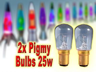 2x 25w Lava Lamp Pygmy Replacement Bulb SBC-E14